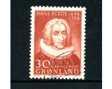 GROENLANDIA - 1958 - LOTTO/21965 - 30 o. H.EGEDE -  USATO