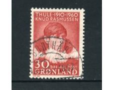 GROENLANDIA - 1960 - LOTTO/21966 - 30 o. KNUD RASMUSSEN - USATO