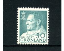 GROENLANDIA - 1963/68 - LOTTO/21968 - 50 o. AZZURRO VERDE - NUOVO