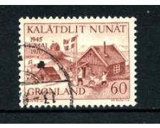 GROENLANDIA - 1970 - LOTTO/21974 - 60 o. LIBERAZIONE DANIMARCA - USATO