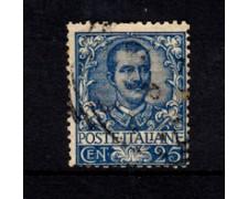 1901 - LOTTO/21981 - REGNO - 25 cent. AZZURRO - USATO