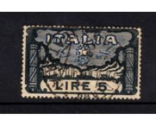 1923 - LOTTO/21988 - REGNO - 5 LIRE MARCIA SU ROMA - USATO