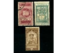1921 - LOTTO/22057 - REGNO -  DANTE ALIGHIERI 3v. - USATI