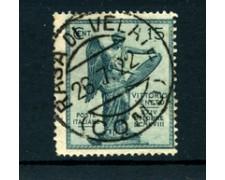 1921 - LOTTO/22058 - REGNO - 15 CENT. VITTORIA USATO RASA DI VELATE