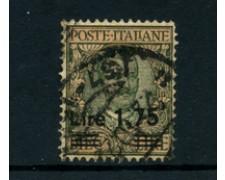 1924/25 - LOTTO/22066 - REGNO - 1,75 SU 10 LIRE USATO