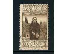 1926 - LOTTO/22067 - REGNO - 5+2,50 Lire  S. FRANCESCO - USATO