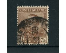 1928 - LOTTO/22070 - REGNO  7,5 CENT.  VITT. EMANUELE III° - USATO