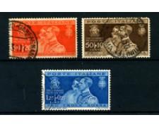 1930 - LOTTO/22074 - REGNO - NOZZE REALI 3v. - USATI