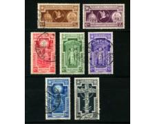 1933 - LOTTO/22085 - REGNO - ANNO SANTO 7v. - USATI
