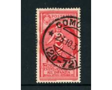 1937 - LOTTO/22095A - REGNO - 75 CENT. COLONIE ESTIVE - USATO