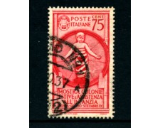 1937 - LOTTO/22095B - REGNO - 75 CENT. COLONIE ESTIVE - USATO