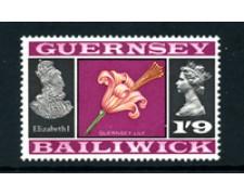 1969/70 - LOTTO/22117 - GUERNSEY - 1/9 LILLIUM DI GUERNSEY - NUOVO