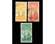 1934 - LOTTO/22130 - DANIMARCA - POSTA AEREA 3v. - USATI