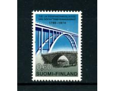 1974 - LOTTO/22156 - FINLANDIA - 60p. GENIO CIVILE - NUOVO FOSFORESCENTE