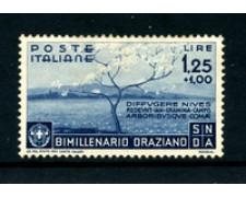 1936 - LOTTO/22200 - REGNO - 1,25+1 LIRA BIMILLENARIO DI ORAZIO - LING.