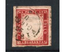 1861 - LOTTO/22223 - REGNO - 40 cent. ROSSO - USATO