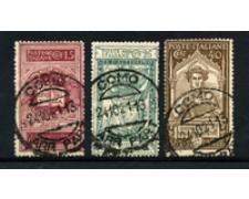 1921 - LOTTO/22227 - REGNO - DANTE ALIGHIERI 3v. - USATI