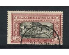 1923 - LOTTO/22228 - REGNO - 10 cent.  A. MANZONI - USATO