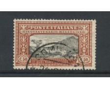 1923 - LOTTO/22229 - REGNO - 50 cent. A. MANZONI - USATO