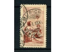 1912 - LOTTO/22245 - SVIZZERA - 10 Rp. PRECURSORE PRO JUVENTUTE - USATO