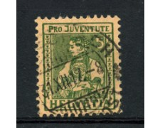 1917 - LOTTO/22249 - SVIZZERA - 5+5c. PRO JUVENTUTE - USATO
