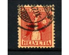 1917 - LOTTO/22250 - SVIZZERA - 10+5c. PRO JUVENTUTE - USATO