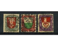 1919 - LOTTO/22252 - SVIZZERA - PRO JUVENTUTE 3v. - USATI