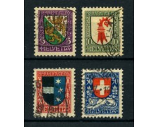 1926 - LOTTO/22261 - SVIZZERA - PRO JUVENTUTE 4v. - USATI