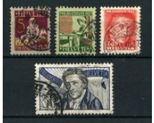 1927 - LOTTO/22262 - SVIZZERA - PRO JUVENTUTE 4v. - USATI