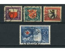 1928 - LOTTO/22263 - SVIZZERA - PRO JUVENTUTE 4v. - USATI
