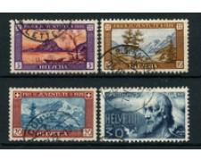 1929 - LOTTO/22264 - SVIZZERA - PRO JUVENTUTE 4v. - USATI