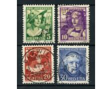 1933 - LOTTO/22267 - SVIZZERA - PRO JUVENTUTE 4v. - USATI