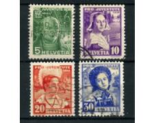 1936 - LOTTO/22269 - SVIZZERA - PRO JUVENTUTE 4v. - USATI