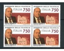 1995 - LOTTO/2226Q - REPUBBLICA - GIORNATA FILATELIA - QUARTINA NUOVI
