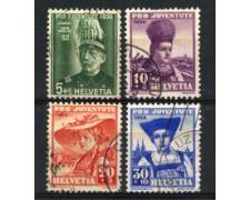1939 - LOTTO/22272 - SVIZZERA - PRO JUVENTUTE 4v. - USATI