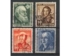 1942 - LOTTO/22276 - SVIZZERA - PRO JUVENTUTE 4v. - USATI