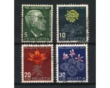1947 - LOTTO/22281 - SVIZZERA - PRO JUVENTUTE 4v. - USATI
