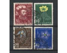 1949 - LOTTO/22286 - SVIZZERA - PRO JUVENTUTE 4v. - USATI