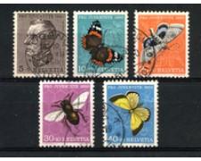 1950 - LOTTO/22287 - SVIZZERA - PRO JUVENTUTE 5v. - USATI