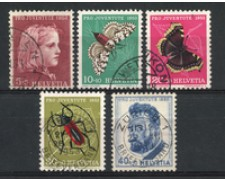 1953 - LOTTO/22289 - SVIZZERA - PRO JUVENTUTE 5v. - USATI
