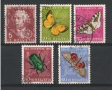 1957 - LOTTO/22292 - SVIZZERA - PRO JUVENTUTE 5v. - USATI