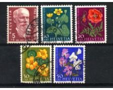1959 - LOTTO/22295 - SVIZZERA - PRO JUVENTUTE 5v. - USATI