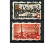 1942 - LOTTO/22299 - SVIZZERA - PRO PATRIA 2v. - USATI