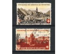 1943 - LOTTO/22300 - SVIZZERA - PRO PATRIA 2v. - USATI