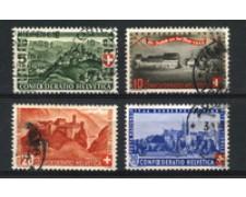 1944 - LOTTO/22301 - SVIZZERA - PRO PATRIA 4v. - USATI