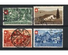 1945 - LOTTO/22302 - SVIZZERA - PRO PATRIA 4v. - USATI