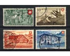 1946 - LOTTO/22303 - SVIZZERA - PRO PATRIA 4v. - USATI