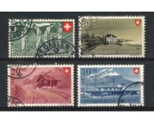 1947 - LOTTO/22304 - SVIZZERA - PRO PATRIA 4v. - USATI