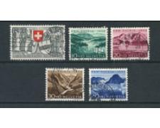 1952 - LOTTO/22315 - SVIZZERA - PRO PATRIA 5v. - USATI