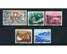 1953 - LOTTO/22316 - SVIZZERA - PRO PATRIA 5v. - USATI